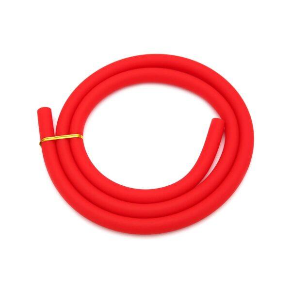 Furtun narghilea silicon roșu mat