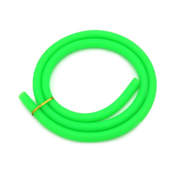 Furtun narghilea silicon - verde mat