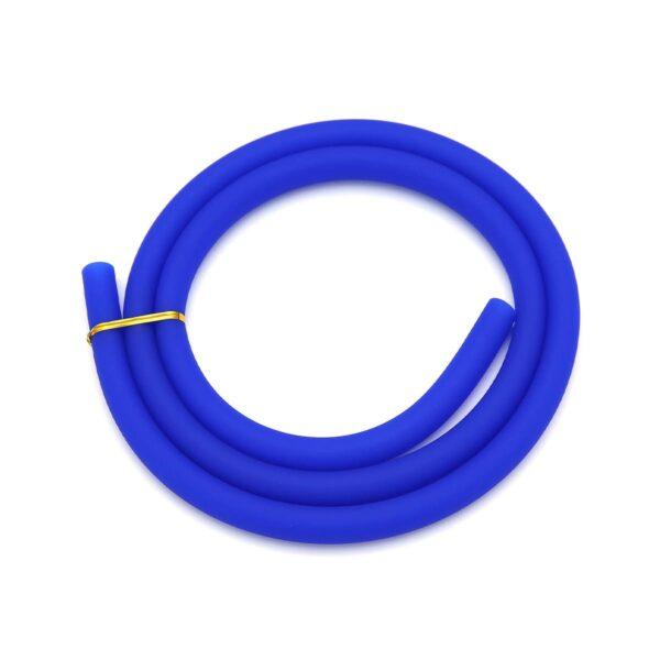 Furtun silicon albastru mat