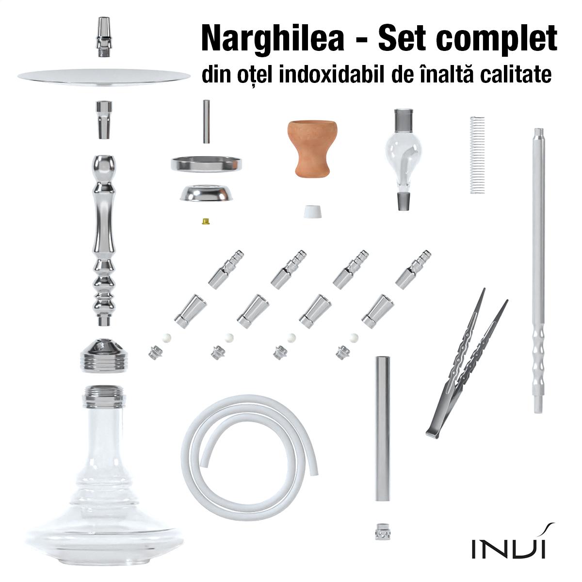 narghilea Invi Tesseract Inox silver